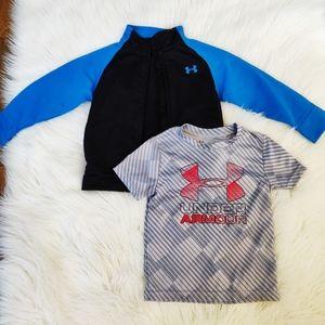 🌿 3/$20 Under Armour toddler jacket and shirt set